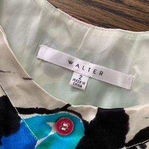 Walter Baker Dresses - Walter Watercolor Floral Silk Mini Dress